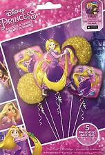 Disney Princess Rapunzel Birthday Party Favor Supplies Balloon Bouquet 5 Piece~