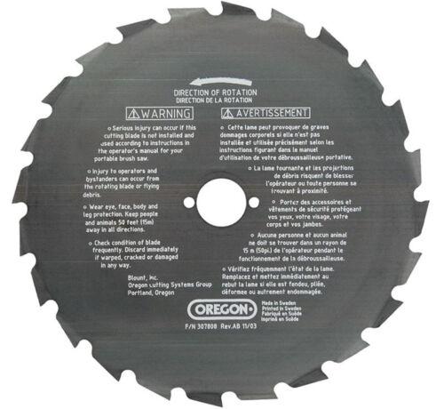"""13000 RPM 9/"""" 24 dents Oregon 41-937 débroussailleuse Lame Centre Trou Diamètre 1/"""""""