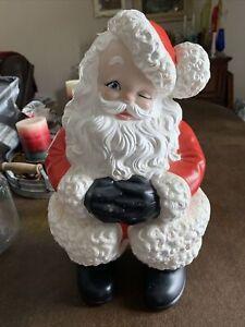 "Vintage SANTA CLAUS Ceramic Atlantic Mold 15"" Indoors Outdoors Christmas Painted"