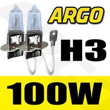 2X H3 100W CAR FOG LIGHT HALOGEN HID SUPER CLEAR UNIVERSAL HEADLIGHT BULBS