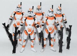 Lot-of-5-Star-Wars-Battle-of-Utapau-Orange-Clone-Trooper-3-75-034-Loose-Figure
