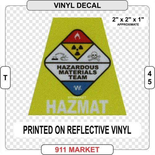 Hazmat Reflective Helmet Tet Decal Sticker Hazardous Material Tetrahedron T 45