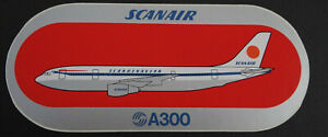 Promotional Stickers Scanair Airbus Industry A300 Aircraft Flugggesellschaft