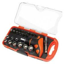 Pocket Socket Set 25 Pieces Ratchet Screwdriver Bits Garage - Top Tech HZF8187