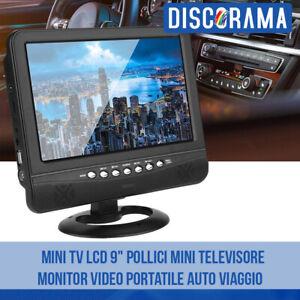 MINI-TV-LCD-9-034-POLLICI-MINI-TELEVISORE-MONITOR-VIDEO-PORTATILE-AUTO-VIAGGIO
