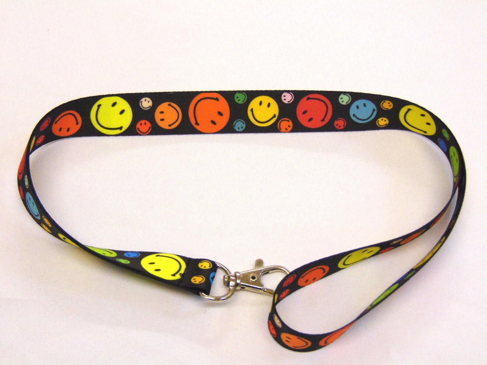 6 printed neck strap lanyards Smiley, Cartoon, Police Line, AD-HD - ID keys etc