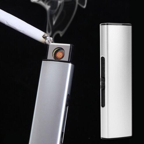 USB Feuerzeug Zigarettenanzünder Glühspirale Elektrisch Wiederaufladbar Silber