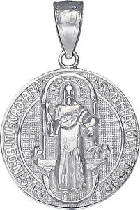 Sterling-Silver-Saint-Benedict-Medal-Reversible-Charm-Pendant-Necklace-1-Inch
