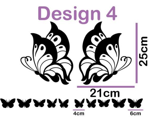 Large Spotty Butterflies Any Custom Name Wall Sticker Removable Girls Room