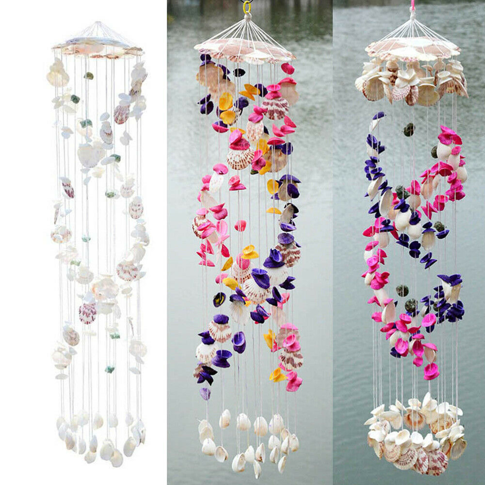 1PC Wind Chime Creative Decorative Hanging Beautiful Shell Wind Bell for Cafe