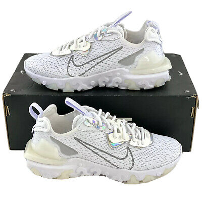 Details about Nike React Vision White Iridescent Women's Size 6.5 Shoes NSW ESS CW0730 100