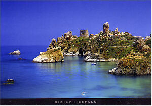 CARTOLINA-SICILIA-POSTCARD-SICILY-CEFALU-039-TORRE-CALDURA