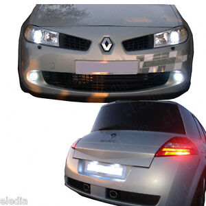 renault megane 2 veilleuses feux plaque led blanc. Black Bedroom Furniture Sets. Home Design Ideas