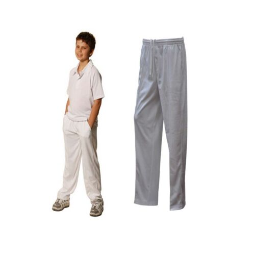NEW KIDS COOLDRY POLYESTER WHITE CRICKET PANTS PANT SPORTS COMFORTABLE CHEAP