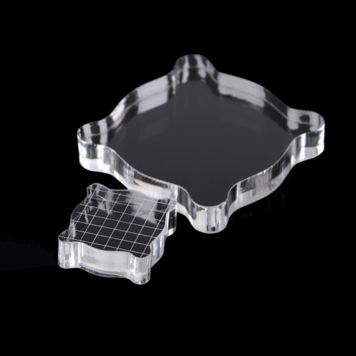 Handmade transparent scrapbook clear stamp pad DIY tool acrylic block 2 sizesFBB