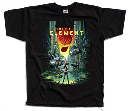 movie poster T SHIRT BLACK all sizes S to 5XL The Fifth Element