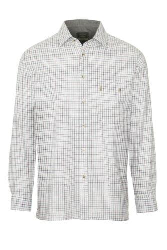 Mens Long Sleeved 100/% Cotton Country Check Shirt Walker and Hawkes