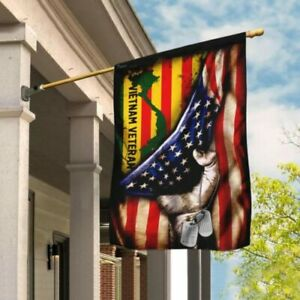 Vietnam Veteran American Flag Garden Flag House Flag Garden Flag Ebay