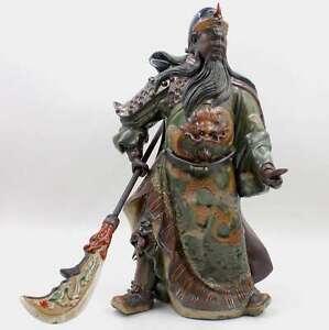Chine-Kwan-Kong-Figurine-43cm-Ceramique-Guan-Yu-Guerrier-asienlifestyle