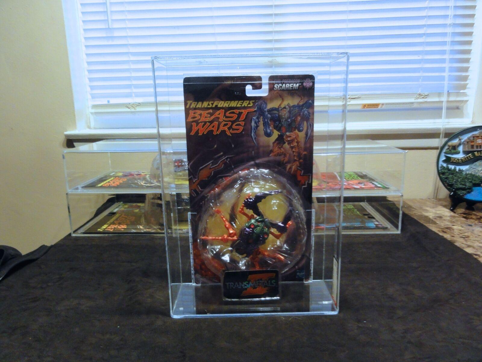 Transformers AFA Beast Wars 1998 Transmetal Scarem Sealed MIB BOX