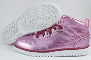 7ff01efafd97 NIKE AIR JORDAN 1 MID METALLIC PINK RED PURPLE RETRO HIGH HI GIRLS ...