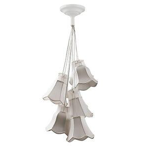 Aris-plafonnier-Granny-en-blanc-9-Abat-jour-style-retro-lampe-suspendue-NEUF