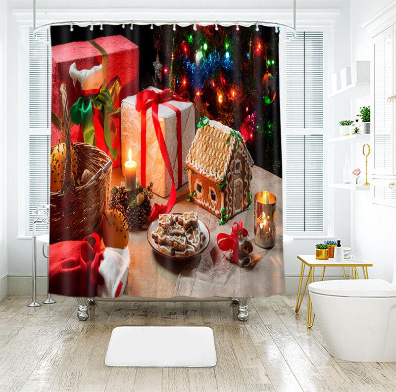 3D Weihnachten Xmas 1 Duschvorhang Wasserdicht Faser Bad Daheim Windows DE | Modern