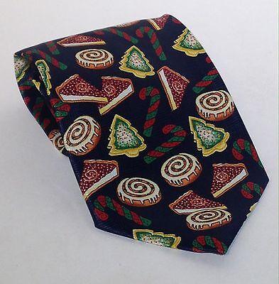 Mens Holiday Cookie Necktie