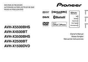 pioneer avh x2500bt av receiver owners manual ebay rh ebay com Pioneer AVH P1400dvd Wiring Pioneer AVH P1400dvd Wiring