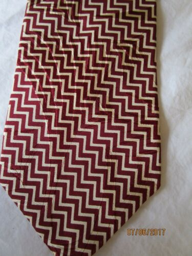 Paul Fredrick Red Patterned Silk Neck Tie