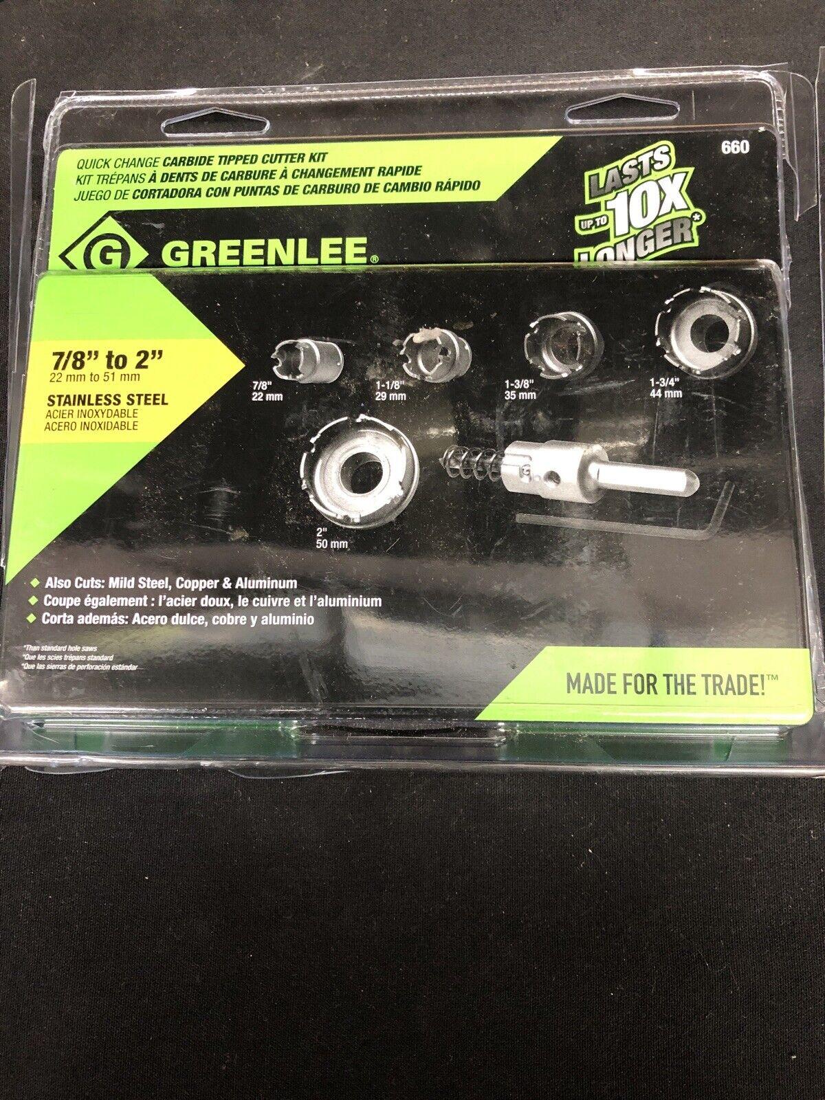 Cortador de Agujero de cambio Greenlee ® Kwik Kits 783310057666 Holesaws