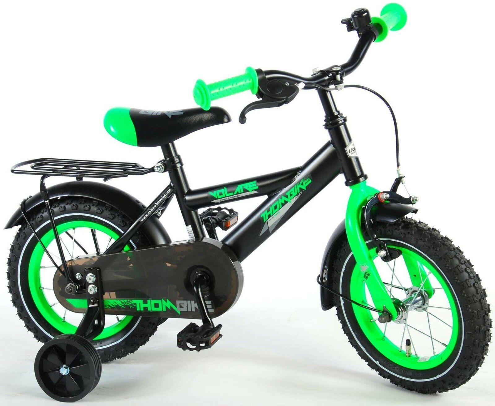 12 Zoll Fahrrad  Kinderfahrrad  Kinder Jungen  Grün  Schwarz Bike Cruiser