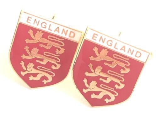 N23 England Three Lions Enamel Crested Cuff-links