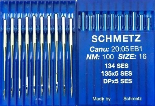 SCHMETZ DPX5SES 135X5SES 134SES NM:100SIZE:16 INDUSTRIAL SEWING MACHINE NEEDLE