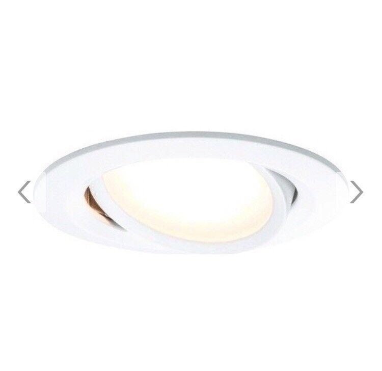 LED Deckenspot Einbaustrahler Paulmann SmartHome RGBW 3er-Set weiß bluetooth