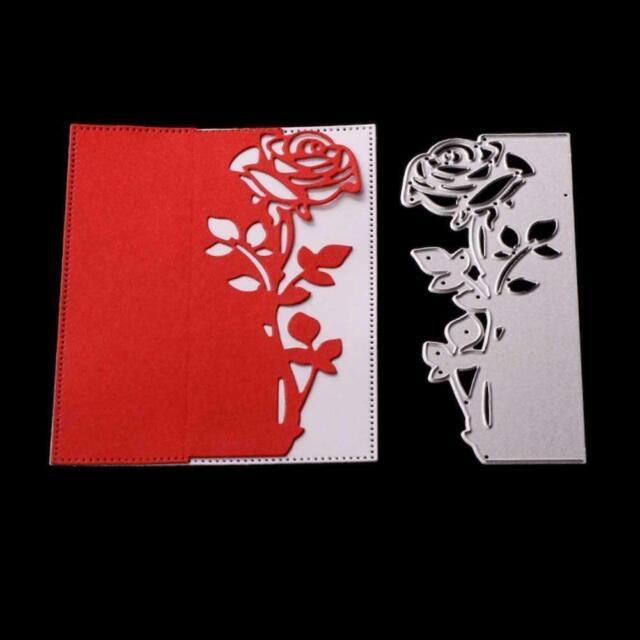 Rose Metall DIY Stanzen Schablone Sammelalbum Album Papier Karte Präge Hand M2V0