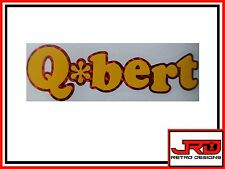 Q-Bert Logo Vinyl Sticker in Red Mosaic & Yellow