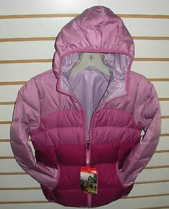 THE NORTH FACE GIRLS REVERSIBLE DOWN MOONDOGGY JACKET-A2TME- W PURPLE- NEW