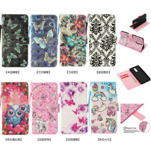 3D-Pattern-Flip-Wallet-PU-Leather-Case-Cover-Stand-Card-Holder-For-Samsung-Phone
