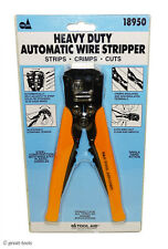 Automatic Wire Stripper Strips Crimps Cuts Heavy Duty Tool Automotive