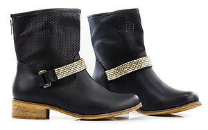 Scarpe-stivali-stivaletti-donna-in-pelle-PU-polacchine-Stile-saldi51