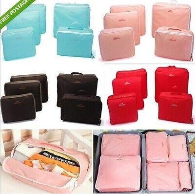 5PCS Travel Organizer Bag Clothes Pouch Portable Storage Case Suitcase Luggage