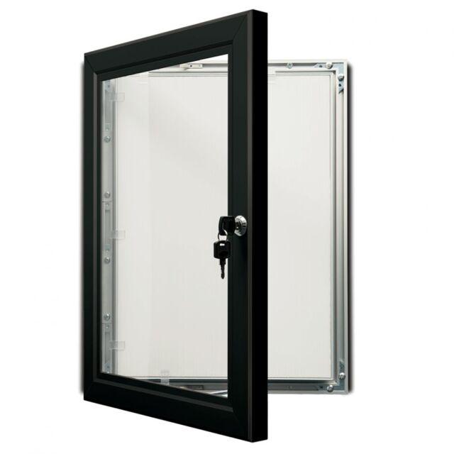 A1A2 Black Outdoor Lockable Display Case Box Poster Menu Holder Notice Board