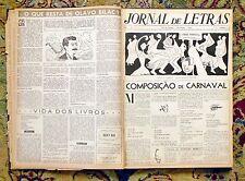 "1950 12 Bound Issues RARE BRAZILIAN LITERARY NEWSPAPER ""JORNAL DE LETRAS"" #7-18"