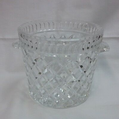 Radient Bohemian Czech Republic 24% Lead Crystal Ice Bucket With Handles To Reduce Body Weight And Prolong Life Glass