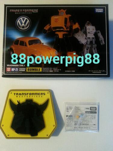 Takara Transformers Masterpiece MP-21 Bumblebee W Coin /& Battle Face US Seller