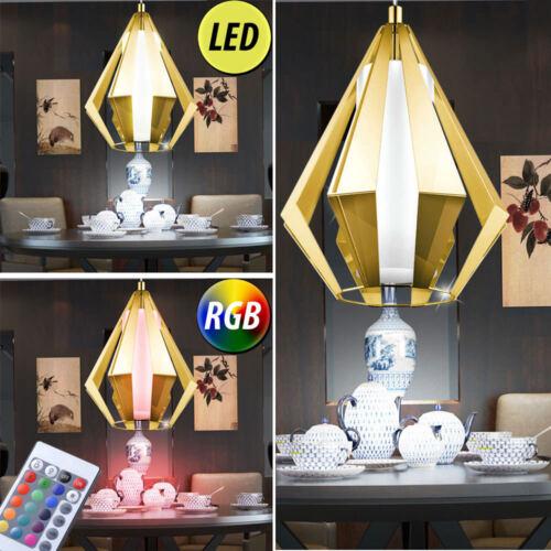 LED Retro Decken Hänge Leuchte RGB  Fernbedienung Vintage Lüster Lampe DIMMBAR