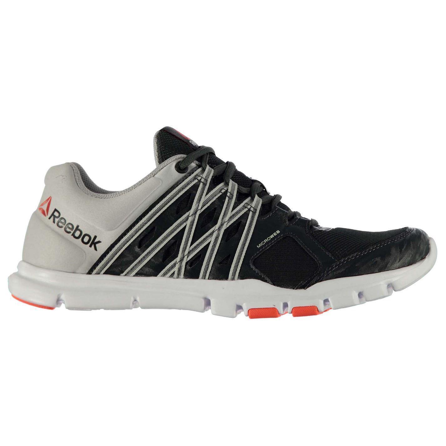 Reebok YourFlex 8 Trainers Mens Gravel/Steel/Red Sports Shoes Sneakers Footwear
