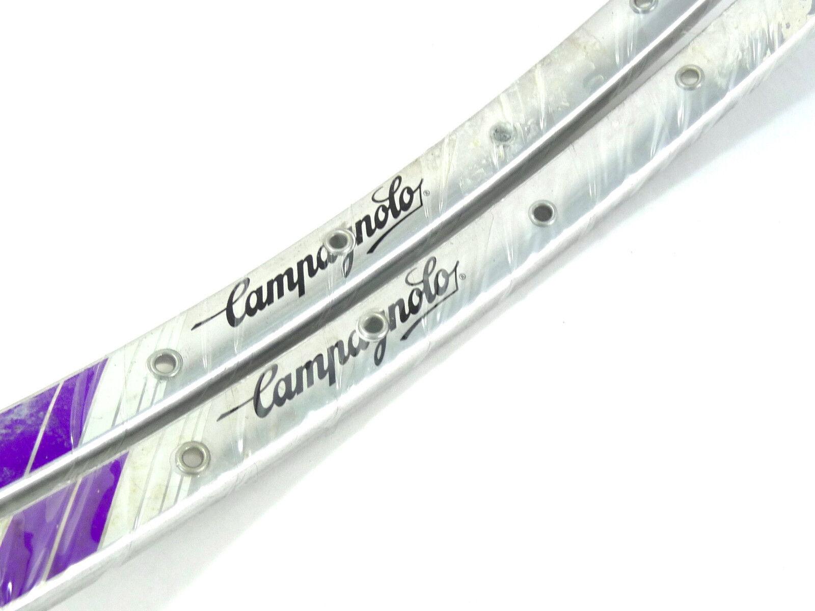 Campagnolo rim set 700c  Lambda Strada tubular 36h C Record Vintage LAST SET NOS  counter genuine