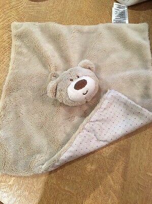 MOTHERCARE TEDDY BEAR SOFT TOY BROWN COMFORTER DOUDOU BEIGE TEDDYS TOY BOX